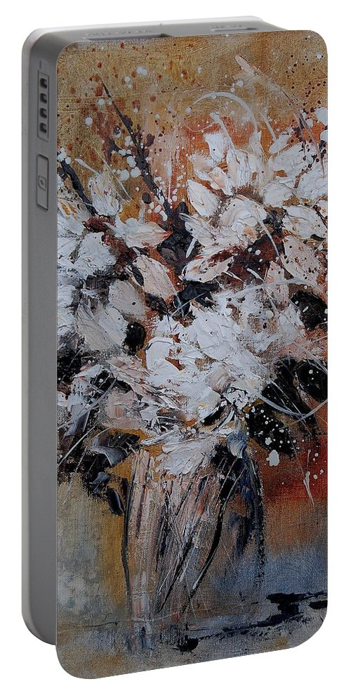 Flowers Portable Battery Charger featuring the painting Bunch 45900140 by Pol Ledent