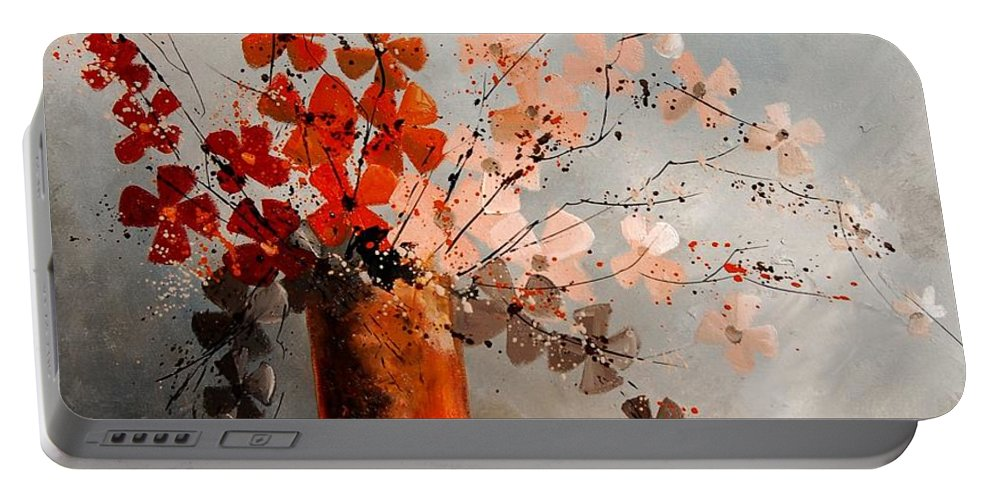 Flowers Portable Battery Charger featuring the painting Bunch 670908 by Pol Ledent