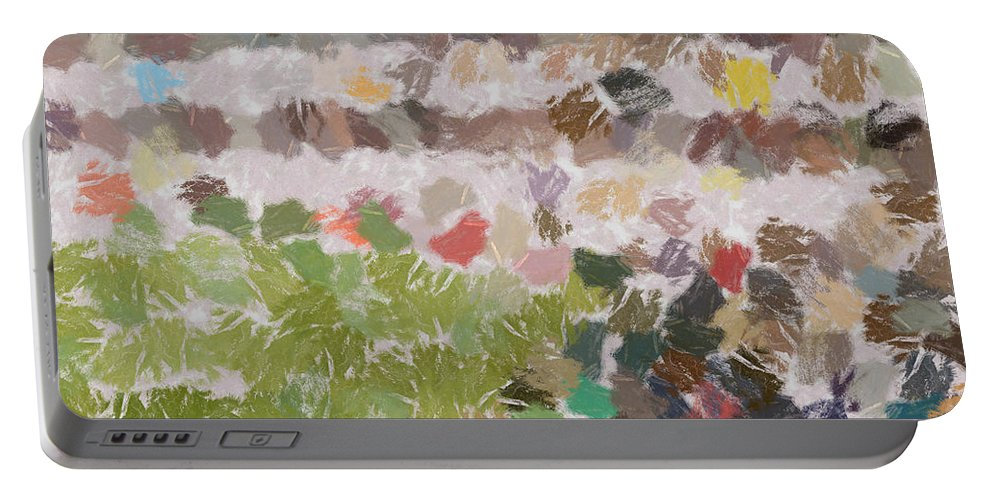 Abstract Portable Battery Charger featuring the photograph Bunch Of Flowers by Ashish Agarwal