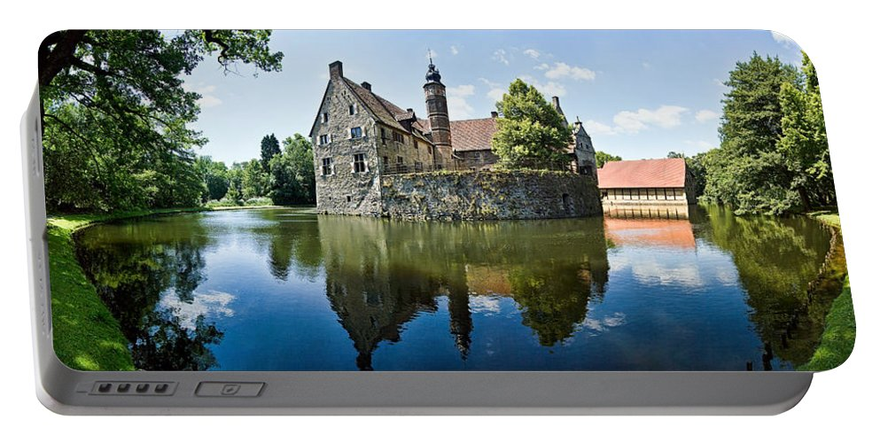 Burg Vischering Portable Battery Charger featuring the photograph Burg Vischering by Dave Bowman