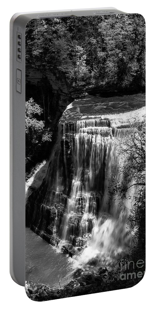 Burgess Falls State Park Portable Battery Charger featuring the photograph Burgess Lower Falls 2 by Bob Phillips