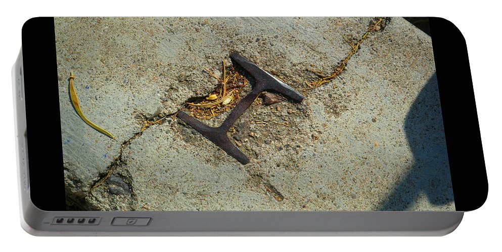 Tamara Kulish Portable Battery Charger featuring the photograph Buried Metal 3 by Tamara Kulish