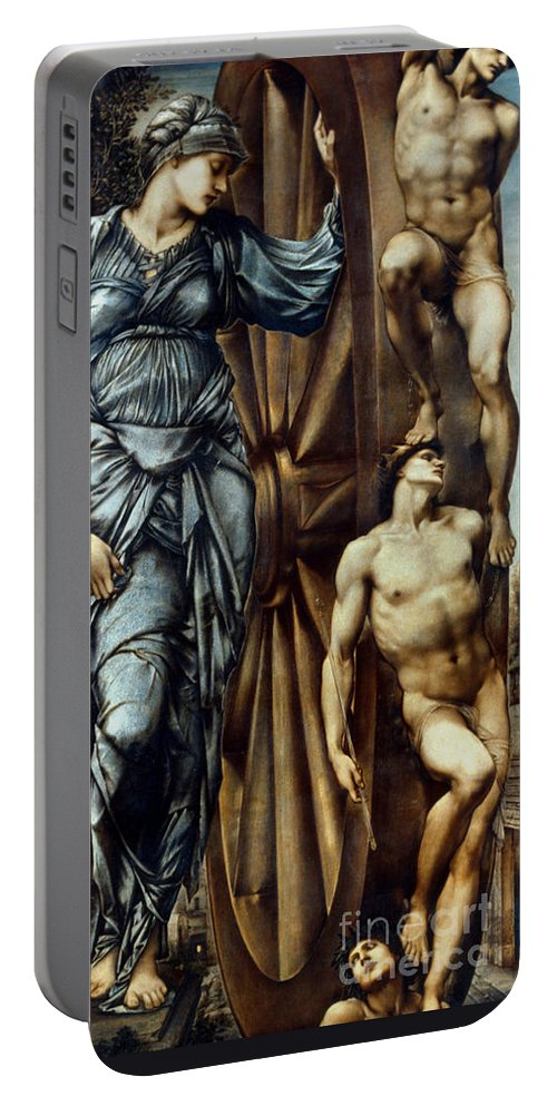 Aod Portable Battery Charger featuring the painting Burne-jones: Fortune by Granger