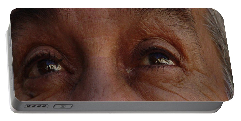 Eyes Portable Battery Charger featuring the photograph Burned Eyes by Peter Piatt