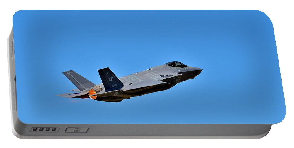 F-35 Portable Battery Charger featuring the photograph Burner On by Michael Morse