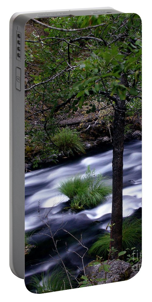 River Portable Battery Charger featuring the photograph Burney Creek by Peter Piatt