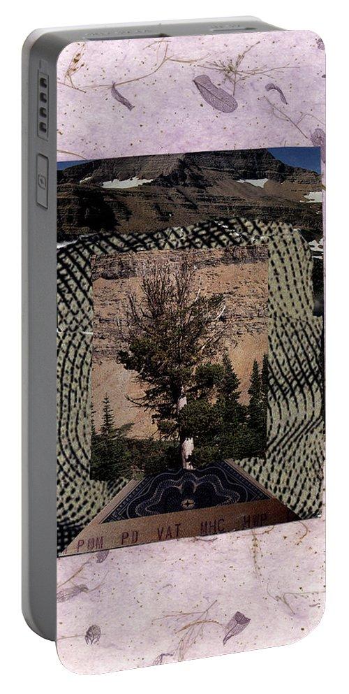 Burning Bush Portable Battery Charger featuring the painting Burning Bush - Bgbub by Fr Bob Gilroy SJ