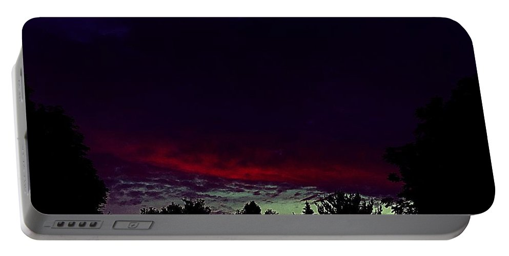 Fire Portable Battery Charger featuring the photograph Burning Cloud Over My Head by Frank J Casella