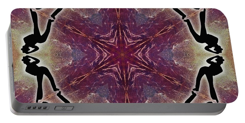 Burning Movement Portable Battery Charger featuring the digital art Burning Movement by Derek Gedney