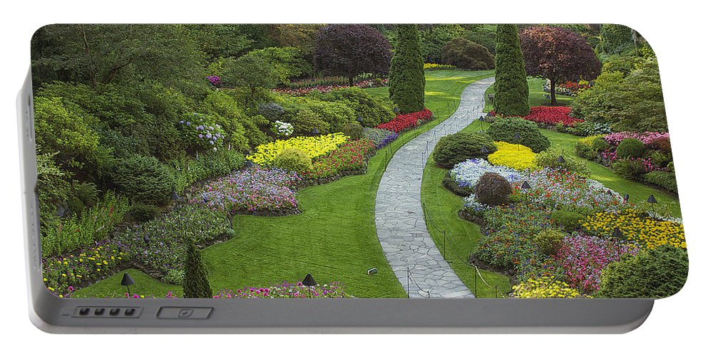 Gardens Portable Battery Charger featuring the photograph Butchart Gardens by Eunice Gibb