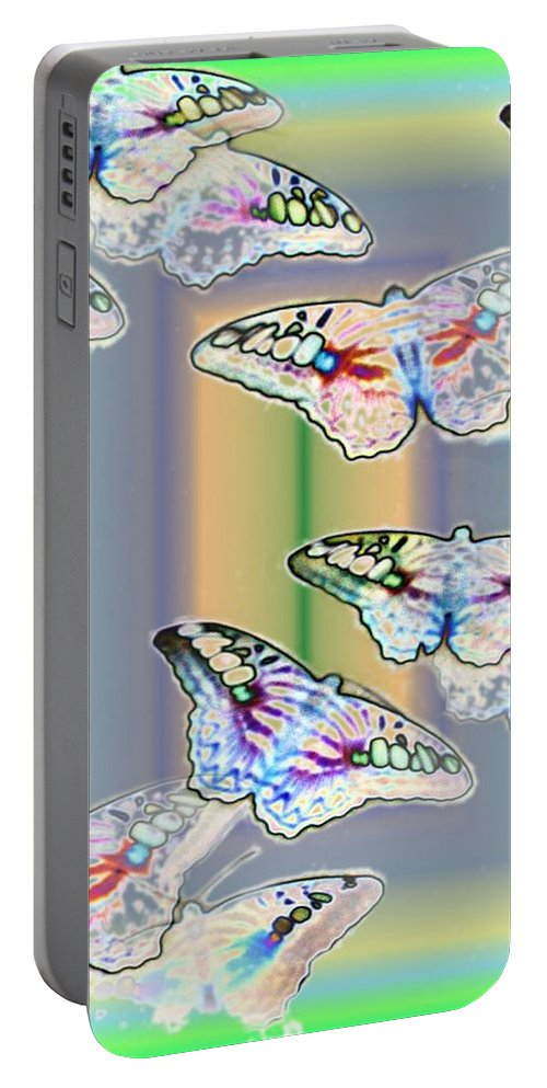 Butterflies Portable Battery Charger featuring the photograph Butterflies In The Vortex by Tim Allen