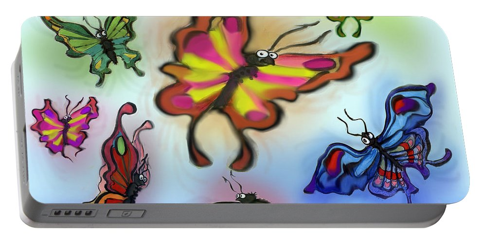 Butterfly Portable Battery Charger featuring the digital art Butterflies by Kevin Middleton