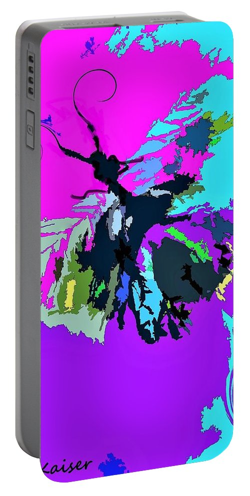 Butterfly Portable Battery Charger featuring the digital art Butterfly Art By Lisa Kaiser by Lisa Kaiser