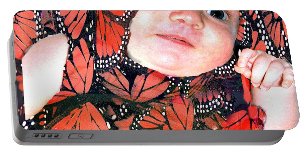 Butterfly Portable Battery Charger featuring the photograph Butterfly Baby by Seth Weaver
