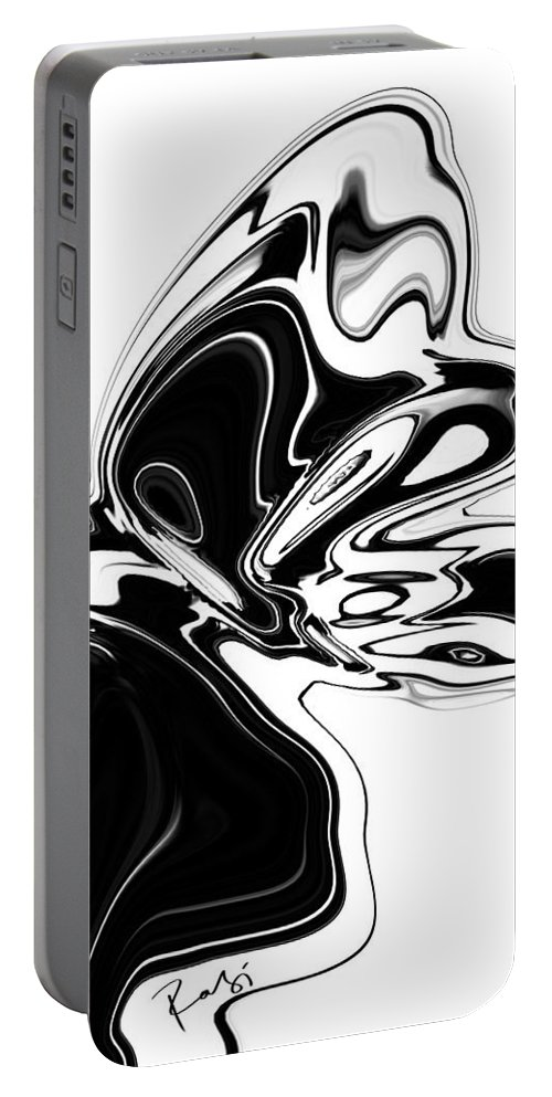 Abstract Portable Battery Charger featuring the digital art Butterfly by Rabi Khan