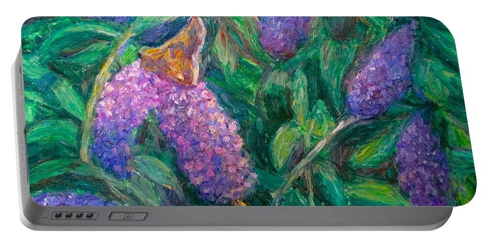 Butterfly Portable Battery Charger featuring the painting Butterfly View by Kendall Kessler