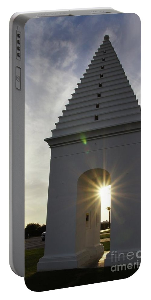 Alys Beach Portable Battery Charger featuring the photograph Butteries Sunset by Megan Cohen