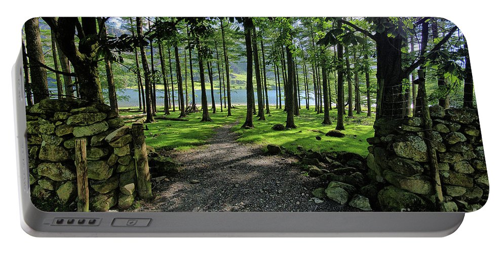 Buttermere Portable Battery Charger featuring the photograph Buttermere Woods by Smart Aviation