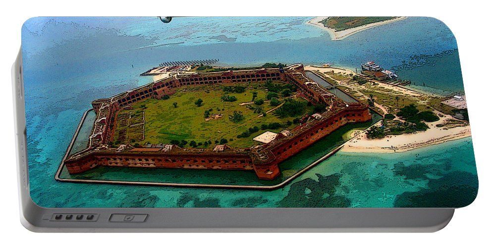 Tortugas Portable Battery Charger featuring the photograph Buzzing The Dry Tortugas by Susan Vineyard