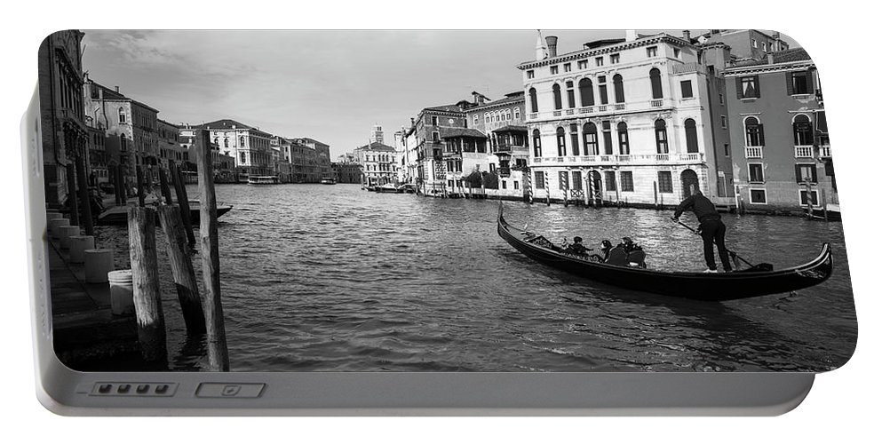 Black And White Venice Portable Battery Charger featuring the photograph Bw Venice by Yuri San