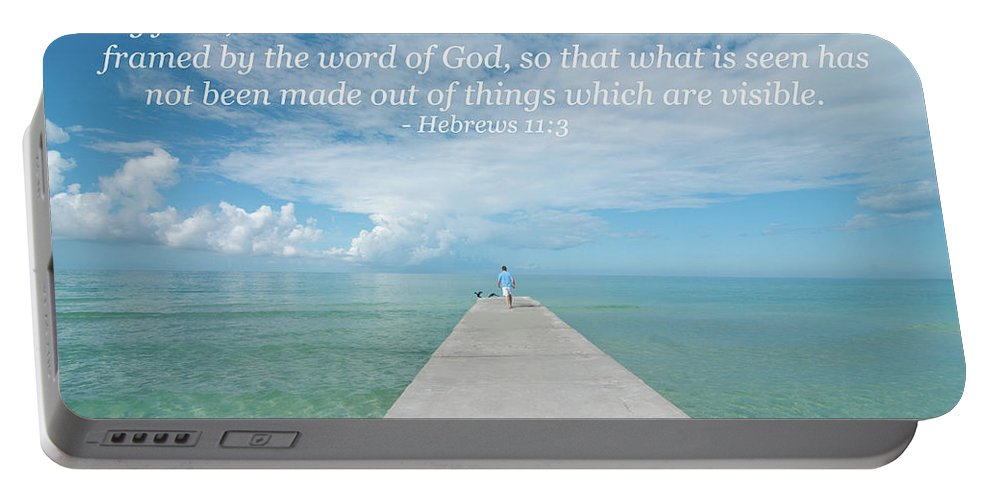 Landscape Portable Battery Charger featuring the photograph By Faith by Kim Warden