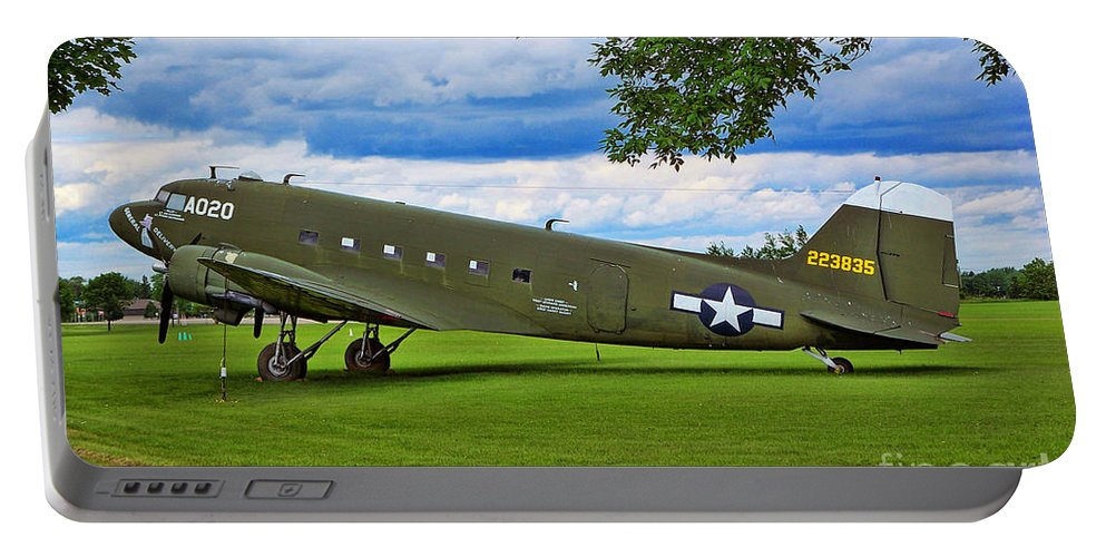 Douglas C-47 Skytrain Portable Battery Charger featuring the photograph C-47 Special Delivery by Tommy Anderson