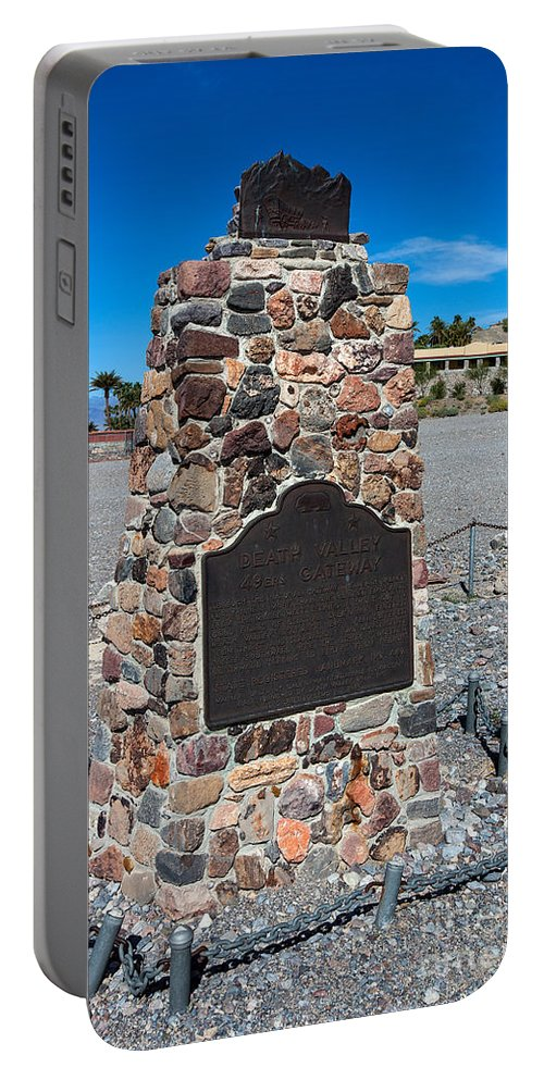 Death Valley Portable Battery Charger featuring the photograph Ca-442 Death Valley 49ers Gateway by Jason O Watson