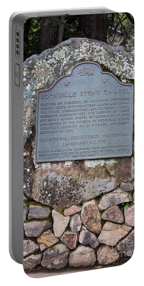 Rockville Stone Chapel Portable Battery Charger featuring the photograph Ca-779 Rockville Stone Chapel by Jason O Watson
