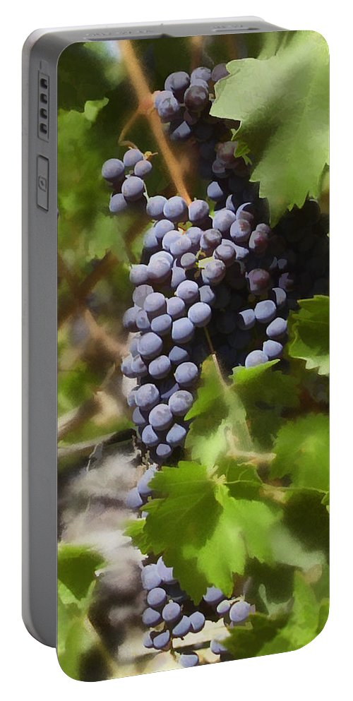 Cabernet Portable Battery Charger featuring the photograph Cabernet by Kurt Van Wagner