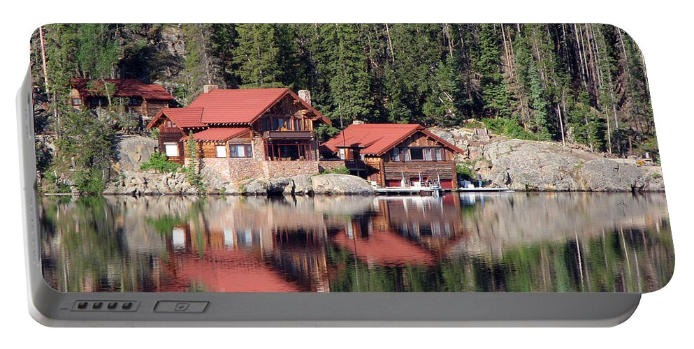 Cabin Portable Battery Charger featuring the photograph Cabin by Amanda Barcon