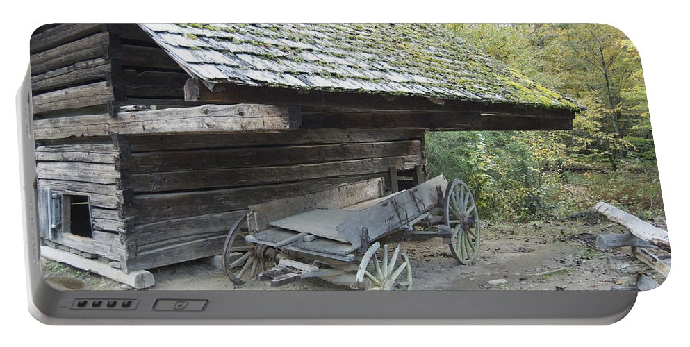 Cades Cove Portable Battery Charger featuring the photograph Cable Mill Barn by Michael Peychich