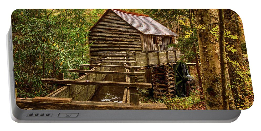Tennessee Portable Battery Charger featuring the photograph Cable Mill Cades Cove Smoky Mountains Tennessee In Autumn by Carol Mellema