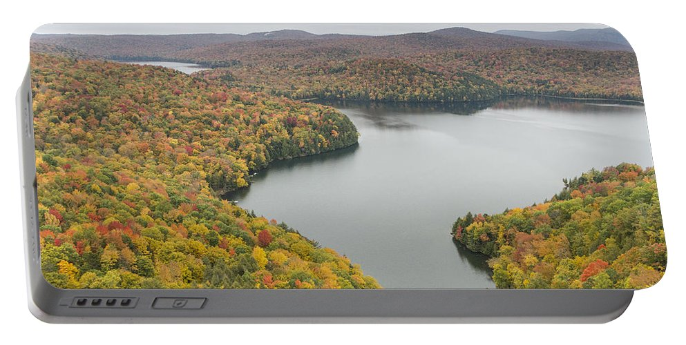 Vermont Portable Battery Charger featuring the photograph Cabot Vermont Nichols Pond Autumn by Andy Gimino