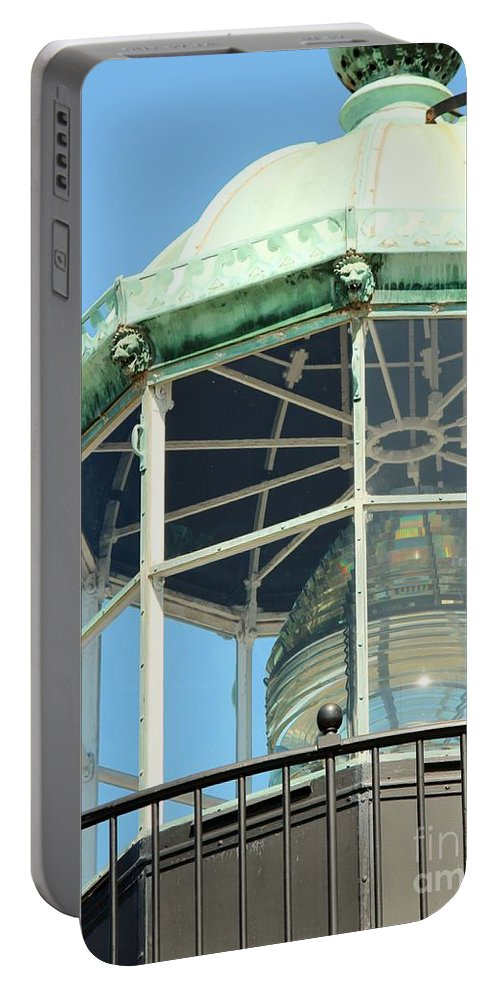 Fresnel Portable Battery Charger featuring the photograph Cabrillo Lighthouse 1 by Marta Robin Gaughen