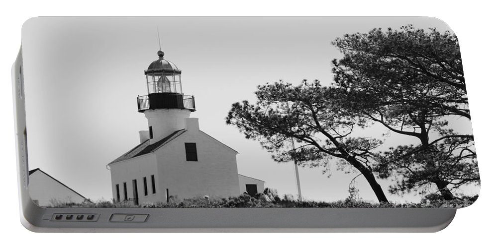 Cabrillo Lighthouse Portable Battery Charger featuring the photograph Cabrillo Lighthouse 3 by Marta Robin Gaughen
