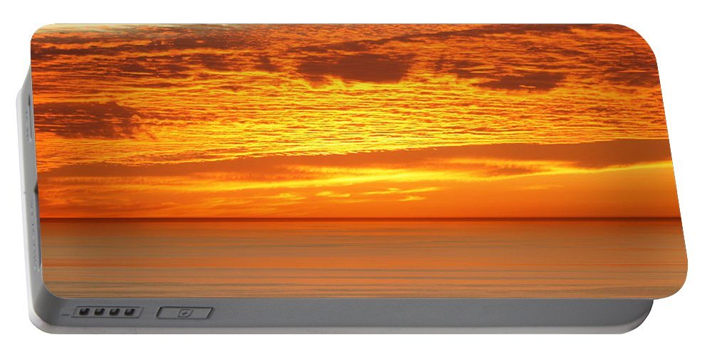 Sunset Portable Battery Charger featuring the photograph Cabrillo Sunset by Strato ThreeSIXTYFive