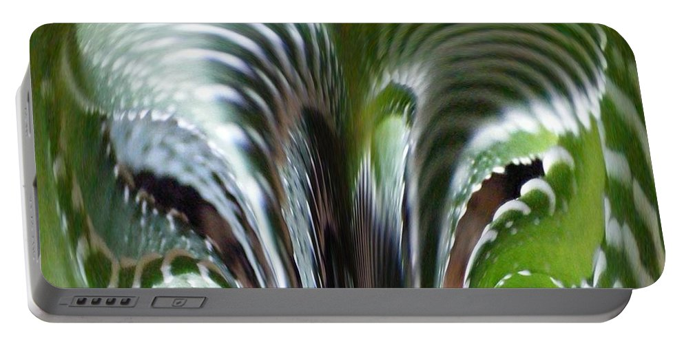 Cactus Digital Art Portable Battery Charger featuring the photograph Cactus Predator by Barbara Griffin