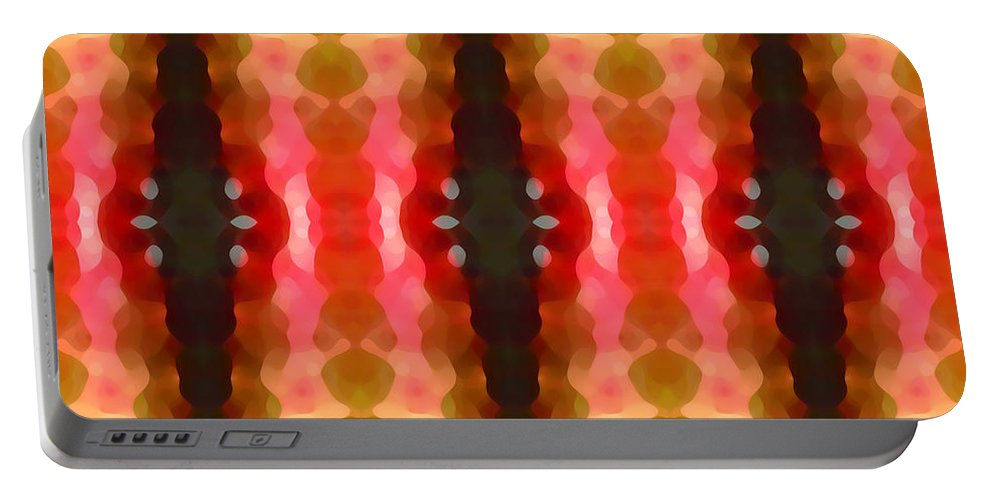 Abstract Portable Battery Charger featuring the painting Cactus Vibrations 2 by Amy Vangsgard
