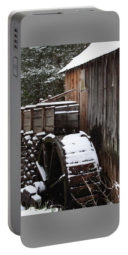 Great Smoky Mountains Portable Battery Charger featuring the photograph Cades Cove Mill I by Margie Wildblood