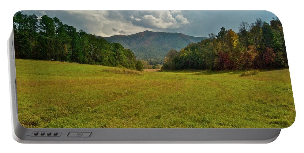 Cades Cove Portable Battery Charger featuring the photograph Cades Cove Pasture by Michael Peychich