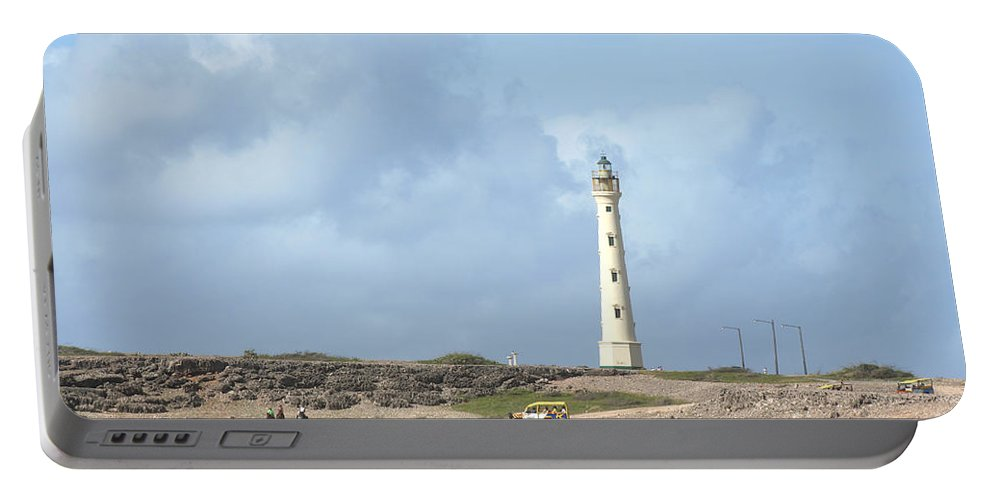 Aruba Portable Battery Charger featuring the photograph California Lighthouse by Thomas Marchessault