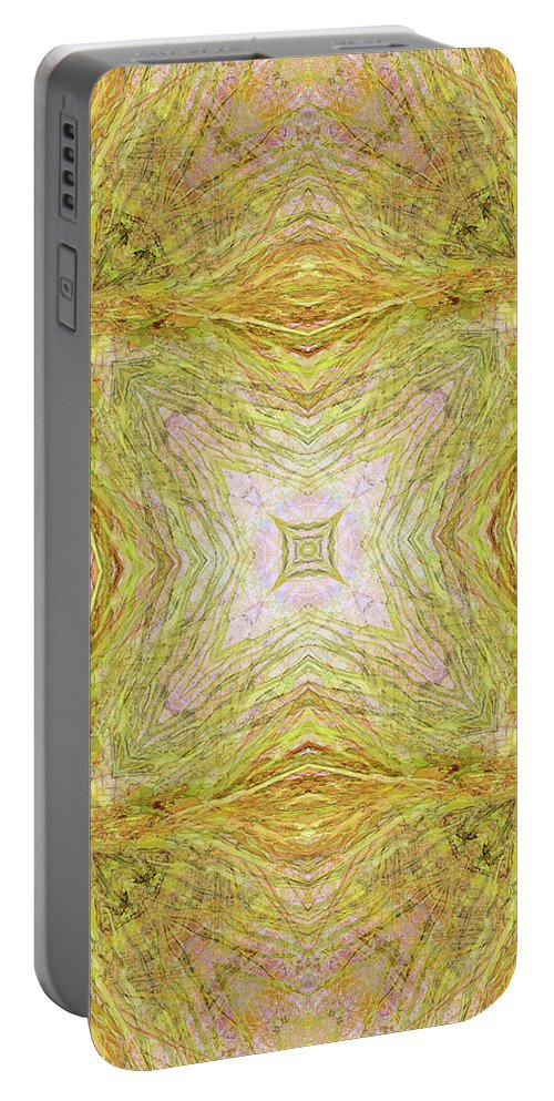 Abstract Portable Battery Charger featuring the digital art California Spring Oscillation Field by Kristin Doner
