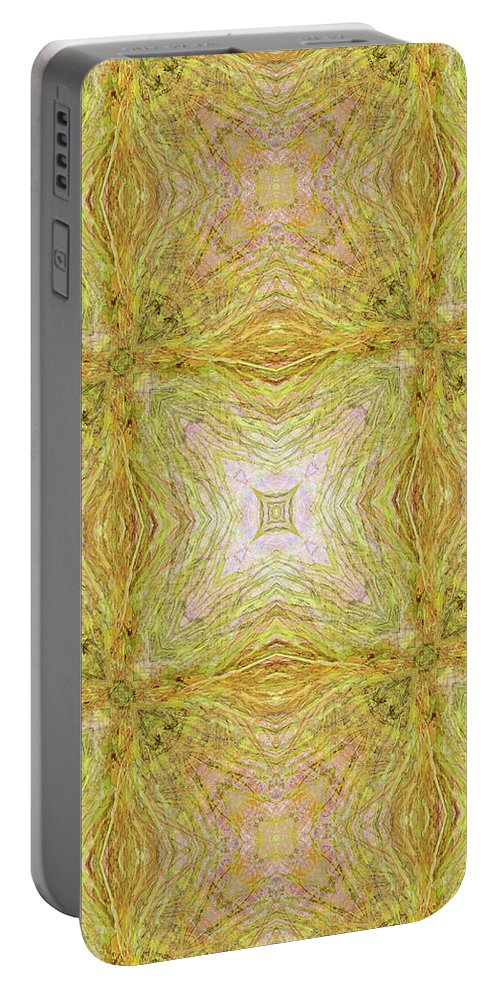Abstract Portable Battery Charger featuring the digital art California Spring Oscillation Pattern by Kristin Doner