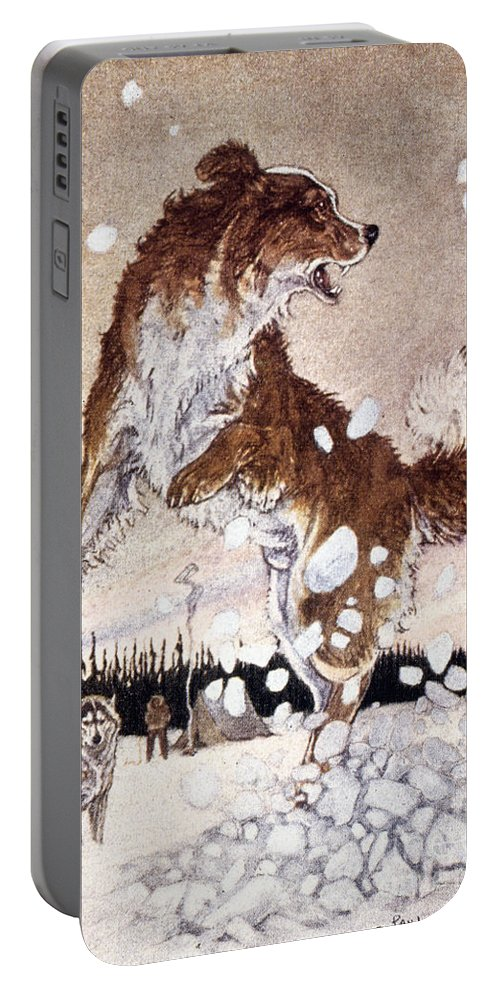 1st Portable Battery Charger featuring the painting Call Of The Wild by Granger