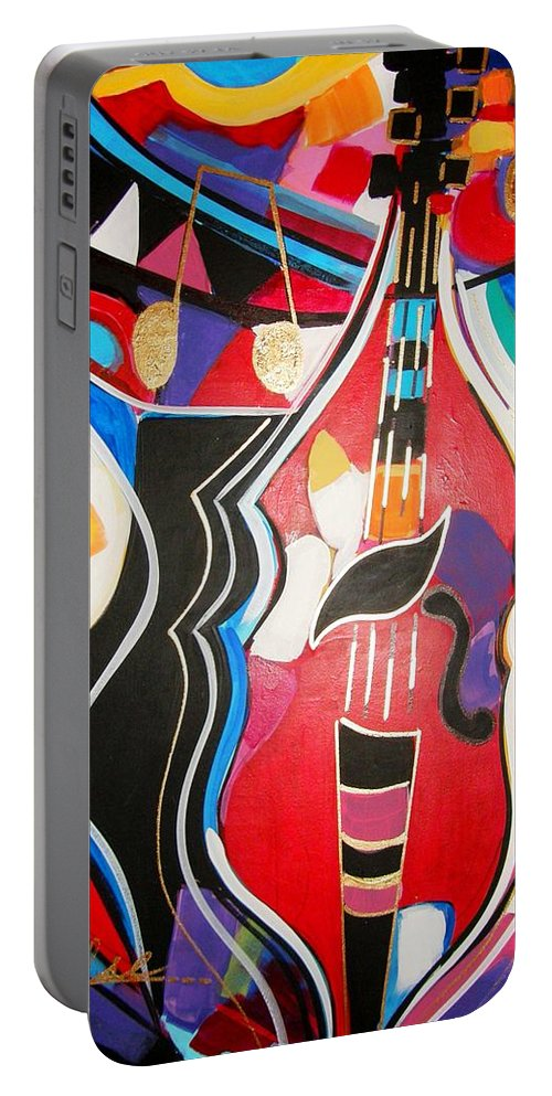 Music Portable Battery Charger featuring the painting Calling Me Home by Gina Hulse