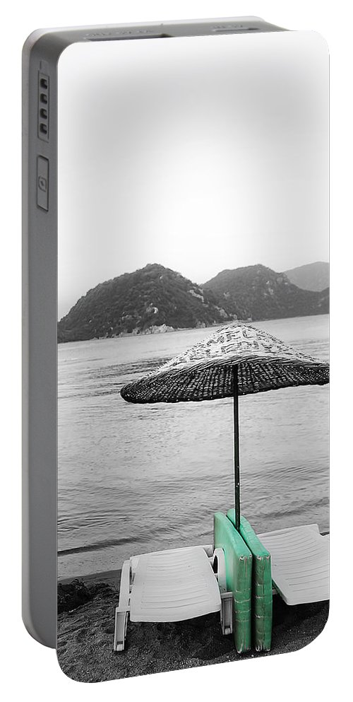 Background Portable Battery Charger featuring the photograph Calm Eve by Svetlana Sewell