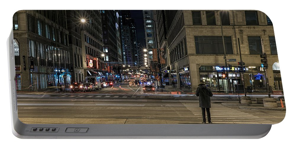 Sony Portable Battery Charger featuring the photograph Calm In The Rush by Steven K Sembach