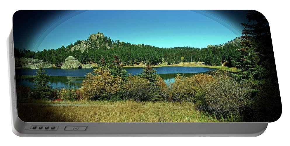 Lake Portable Battery Charger featuring the photograph Calm Lake by Glenn Smith