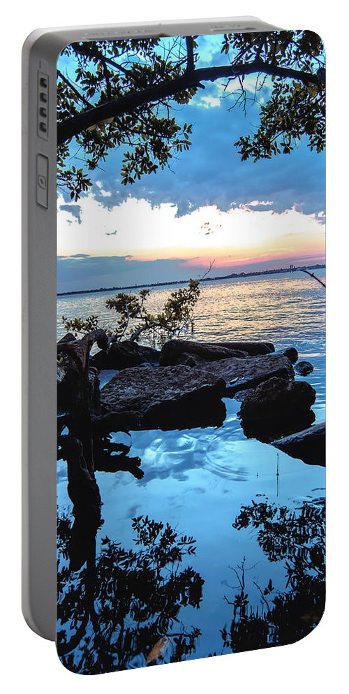 Caloosahatchee Mangroves Portable Battery Charger featuring the photograph Caloosahatchee Mangroves by Michael Frizzell