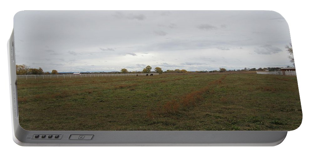 Calves Portable Battery Charger featuring the photograph Pasture by Frederick Holiday